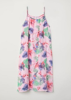 H&M H & M - Patterned Chiffon Dress - Pink