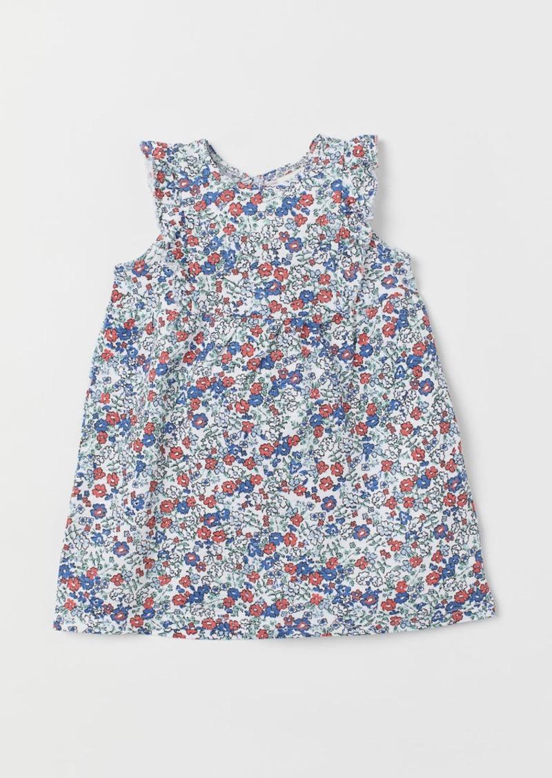 H&M H & M - Slub Jersey Dress - White