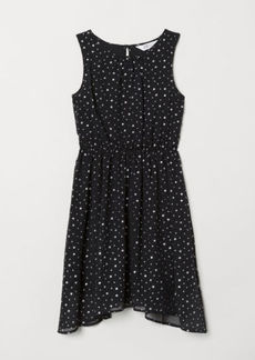 H&M H & M - Patterned Dress - Black