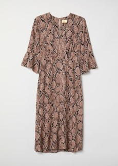 H&M H & M - Patterned Dress - Brown