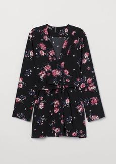 H&M H & M - Patterned Jacket - Black