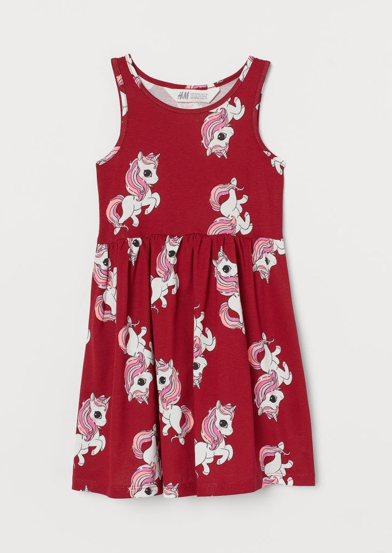H&M H & M - Patterned Jersey Dress - Red