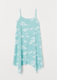 H&M H & M - Patterned Jersey Dress - Turquoise