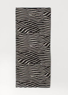 H&M H & M - Patterned Jersey Skirt - Black