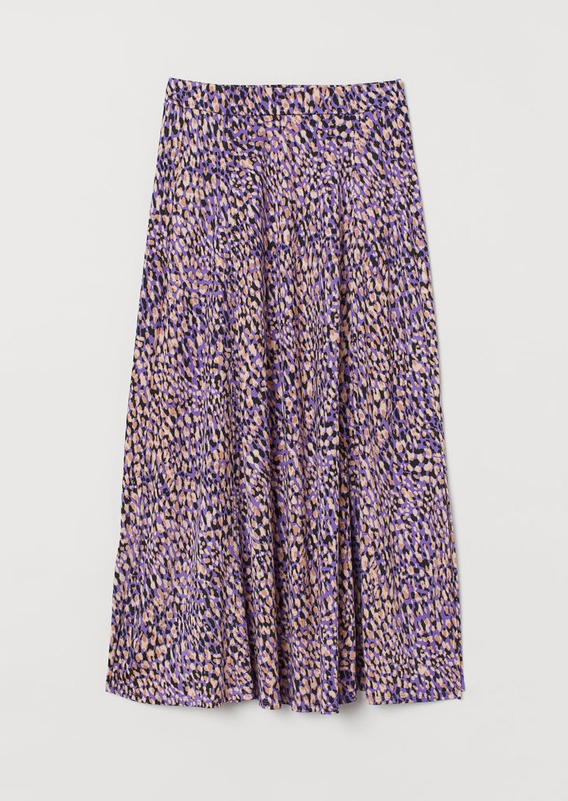 H&M H & M - Patterned Jersey Skirt - Purple