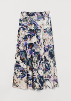H&M H & M - Patterned Jersey Skirt - Purple