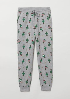 H&M H & M - Patterned Joggers - Gray