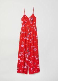 H&M H & M - Patterned Jumpsuit - Red