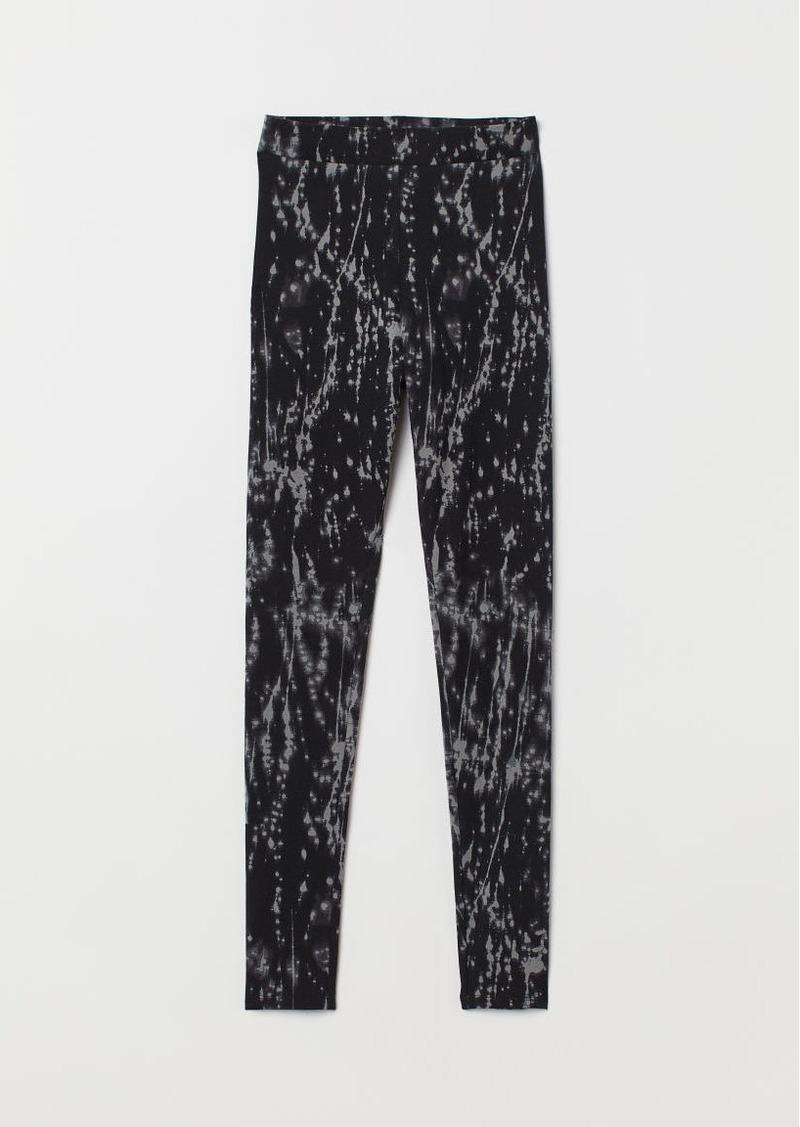 H&M H & M - Patterned Leggings - Gray