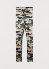 H&M H & M - Patterned Leggings - Green