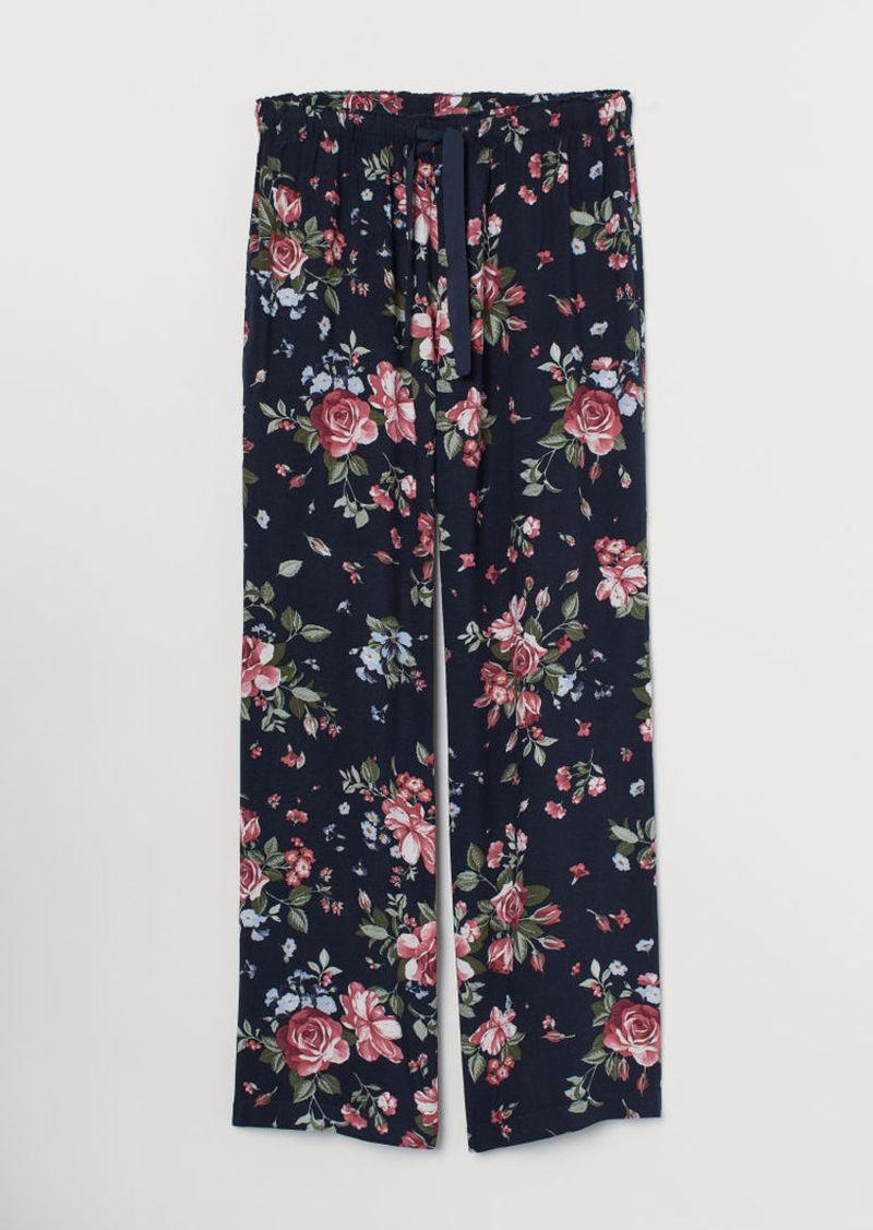 H&M H & M - Patterned Pajama Pants - Blue