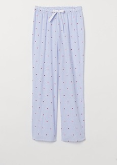 H&M H & M - Patterned Pajama Pants - Blue