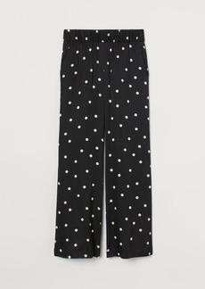 H&M H & M - Patterned Pants - Black