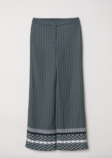 H&M H & M - Patterned Pants - Green