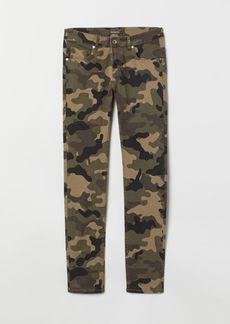 H&M H & M - Patterned Pants - Green