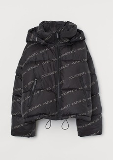 H&M H & M - Patterned Puffer Jacket - Black