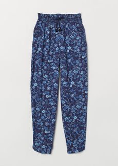 H&M H & M - Patterned Pull-on Pants - Blue