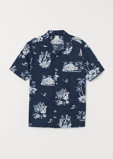 H&M H & M - Patterned Resort Shirt - Blue
