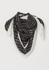 H&M H & M - Patterned Satin Scarf - Black