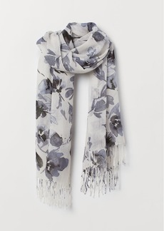 H&M H & M - Patterned Scarf - Gray