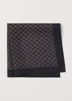 H&M H & M - Patterned Silk Handkerchief - Blue