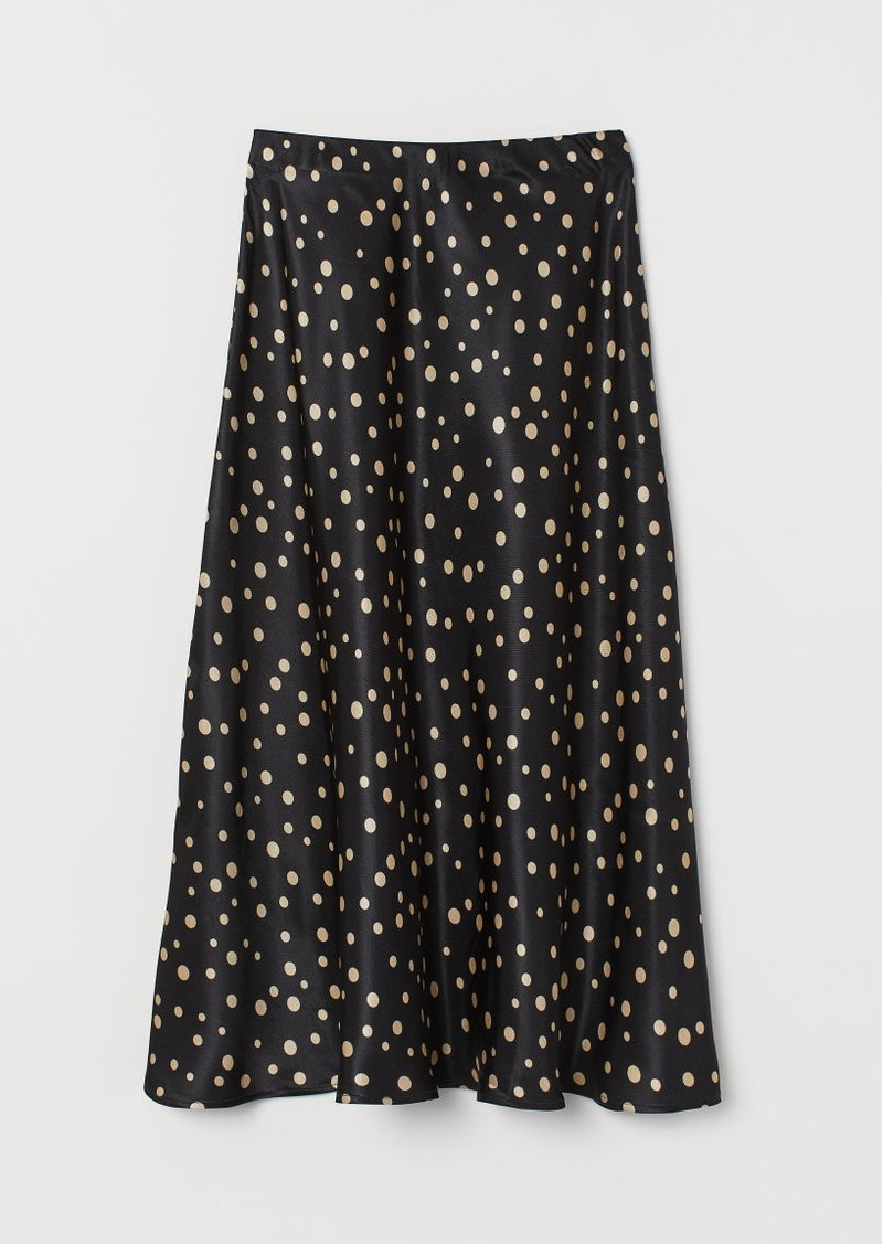 H&M H & M - Patterned Skirt - Black