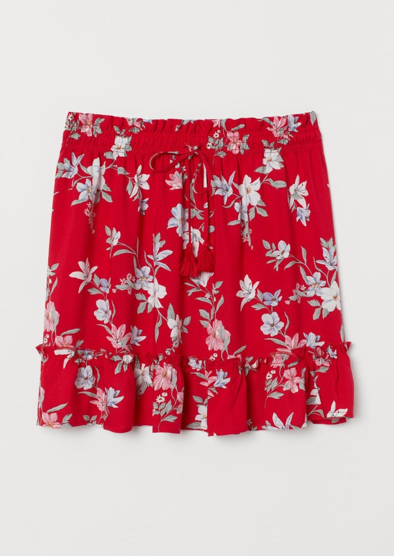 H&M H & M - Patterned Skirt - Red