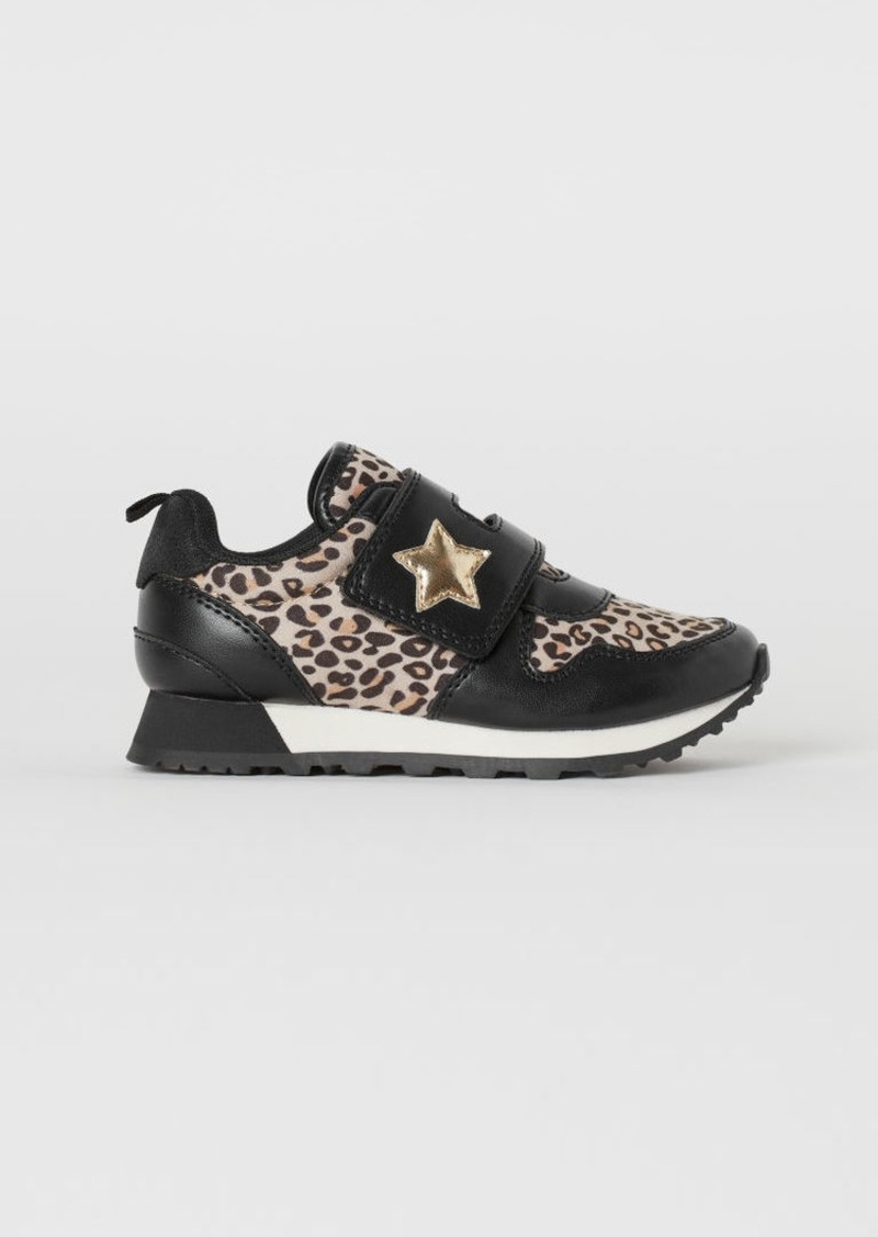 H&M H & M - Patterned Sneakers - Black