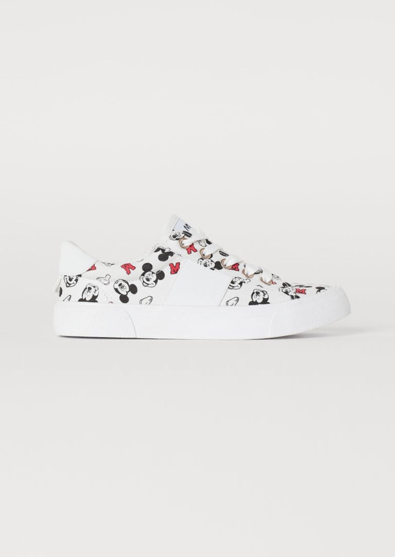 H&M H & M - Patterned Sneakers - White