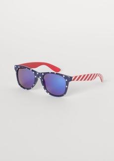 H&M H & M - Patterned Sunglasses - Blue