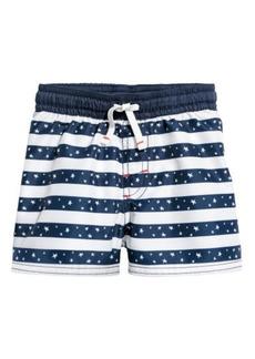 H&M H & M - Patterned Swim Shorts - Blue