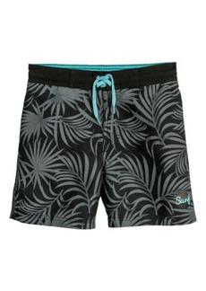 H&M H & M - Patterned Swim Shorts - Gray