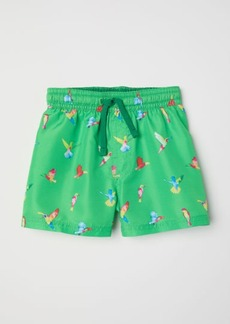 H&M H & M - Patterned Swim Shorts - Green