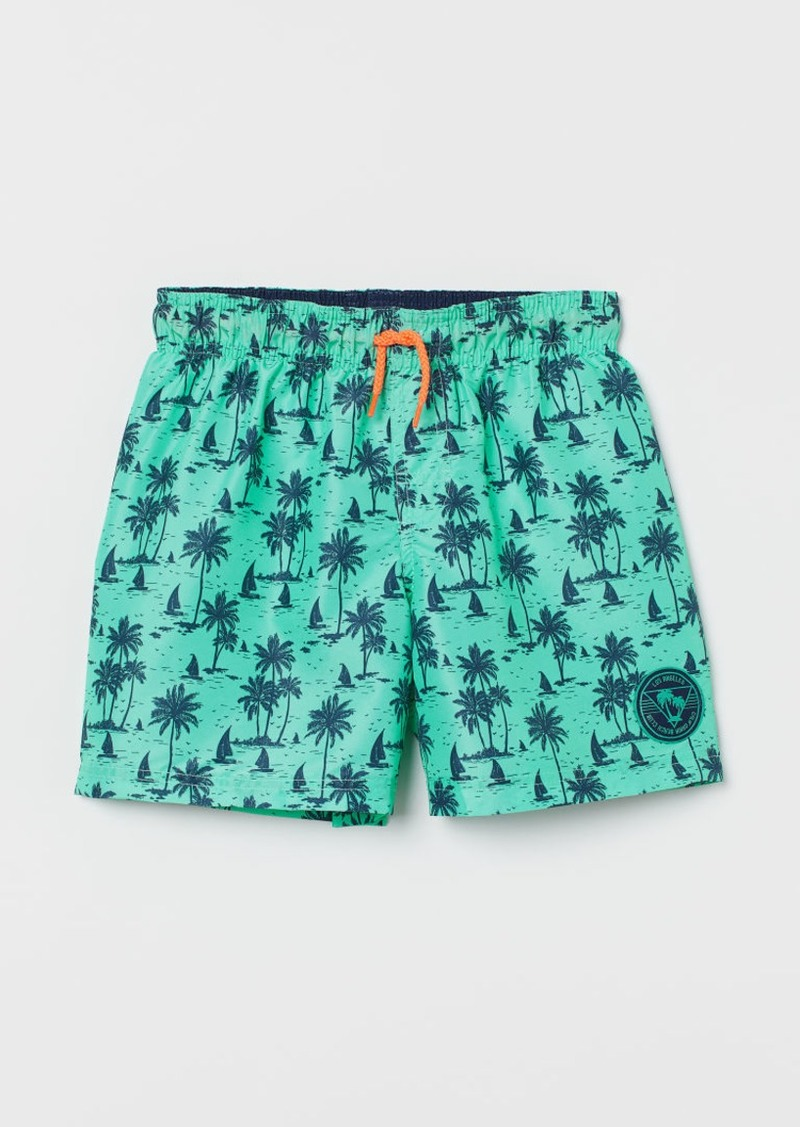 H&M H & M - Patterned Swim Shorts - Turquoise