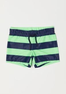 H&M H & M - Patterned Swim Trunks - Blue