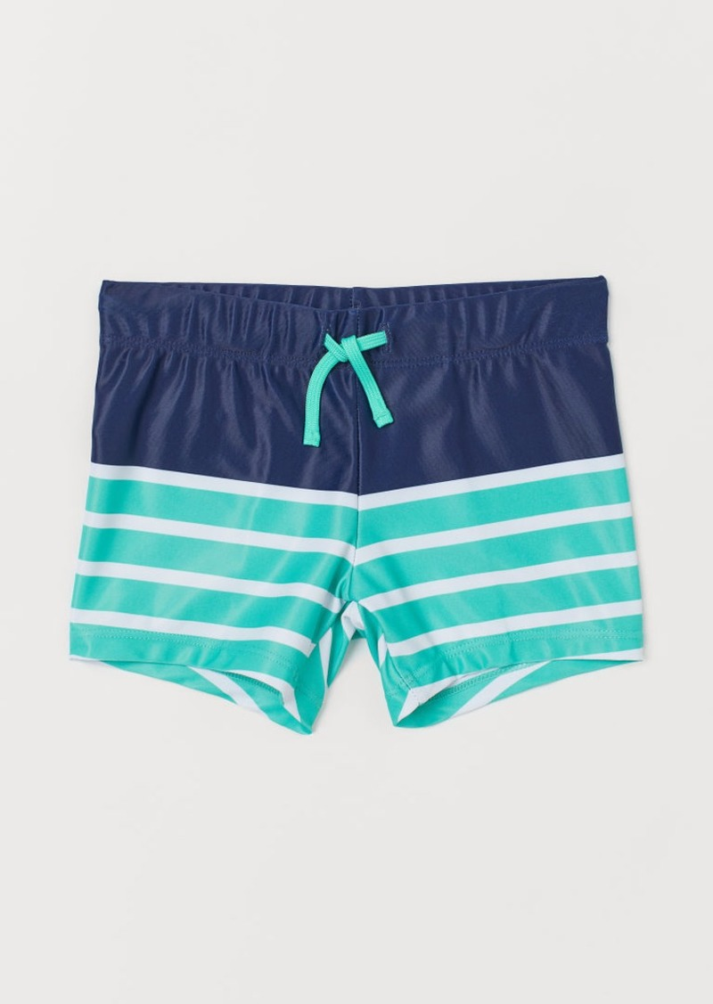 H&M H & M - Patterned Swim Trunks - Blue