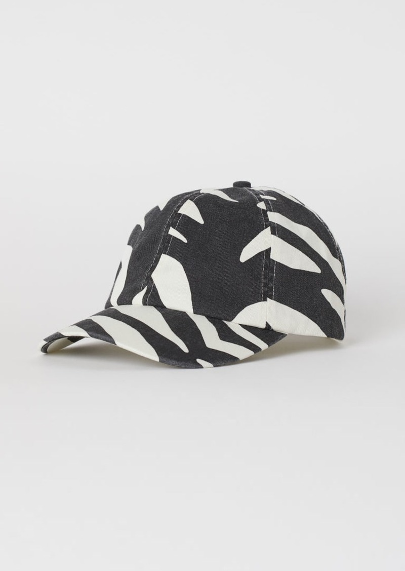 H&M H & M - Patterned Twill Cap - White