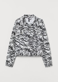 H&M H & M - Patterned Twill Jacket - White