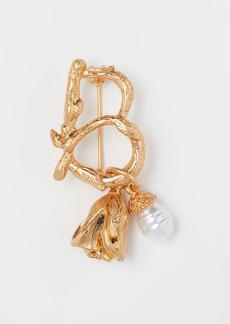 H&M H & M - Pendant-detail Brooch - Gold