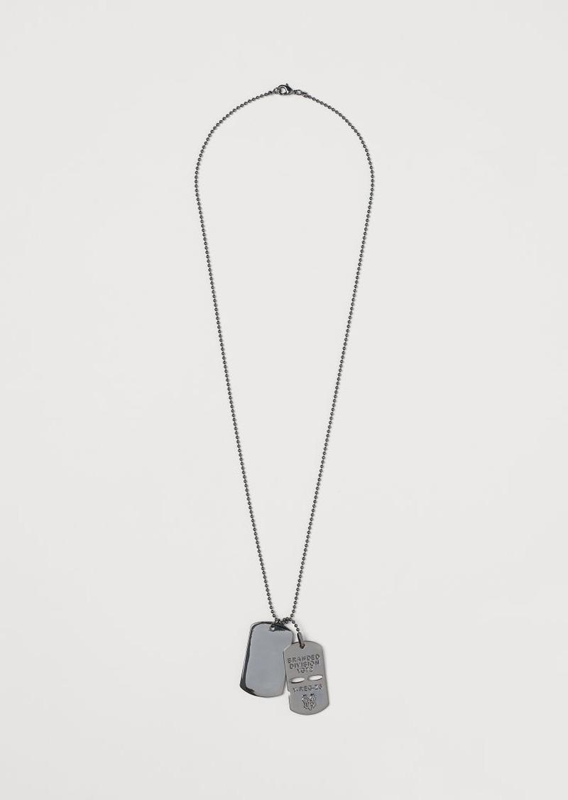 H&M H & M - Pendant Necklace - Black