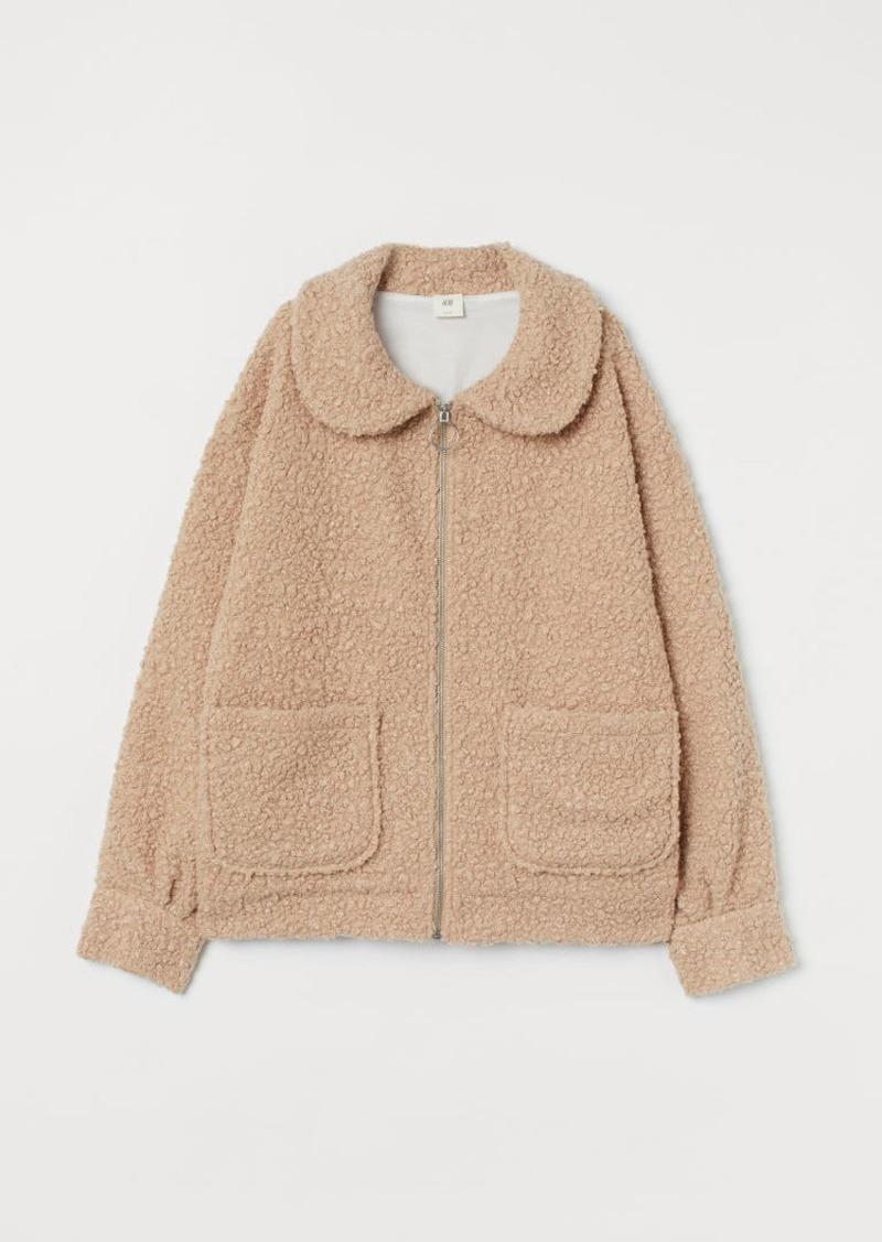 H&M H & M - Faux Shearling Jacket - Beige
