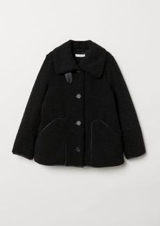 H&M H & M - Pile Jacket - Black