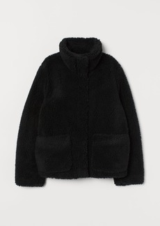 H&M H & M - Faux Shearling Jacket - Black