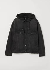 H&M H & M - Pile-lined Denim Jacket - Black