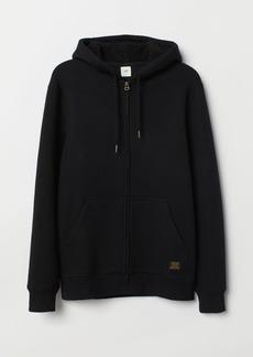 H&M H & M - Pile-lined Hooded Jacket - Black