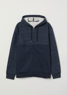 H&M H & M - Pile-lined Hooded Jacket - Blue