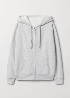 H&M H & M - Pile-lined Hooded Jacket - Gray