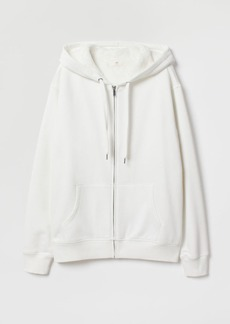 H&M H & M - Pile-lined Hooded Jacket - White