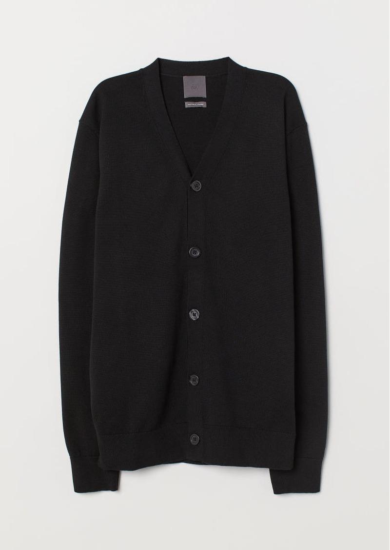 H&M H & M - Pima Cotton Cardigan - Black
