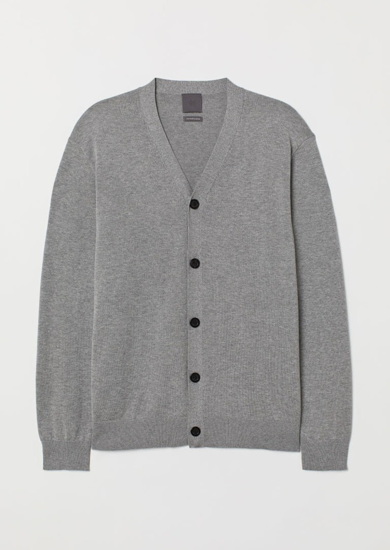 H&M H & M - Pima Cotton Cardigan - Gray